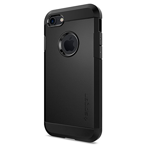 Spigen 042CS20491 Custodia per Apple iPhone 7, Nero/Opaco
