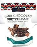 Purerepublic 24 Ounce Dark Chocolate Pretzel Bark with Salted Caramel Coating in Resealable Bag