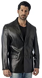 LEATHER BLAZER JACKET BY REED (IMPORTED) (Large)