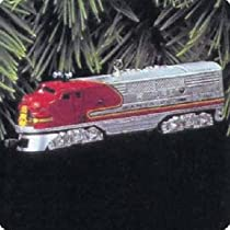 1950 Santa Fe F3 Deisel Locomotive Lionel Trains 2nd in Series 1997 Hallmark Ornament QX6145