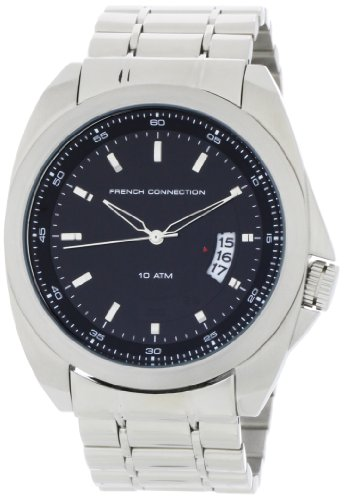 French Connection Men's FC1034B Stainless Steel Round Case Watch