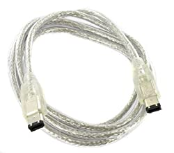 Importer520 6 to 6-pin IEEE 1394 iLink FireWire DV Cable FOR MAC/PC