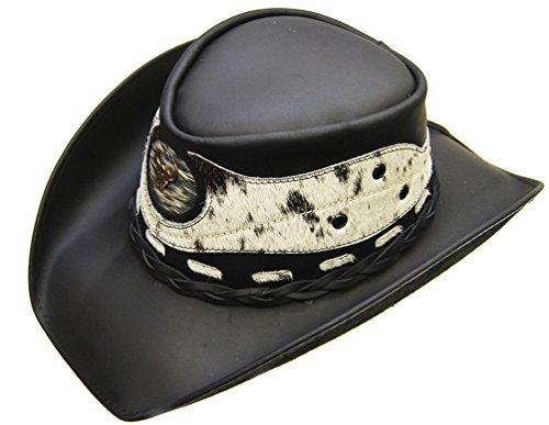 modestone-mens-leather-cappello-cowboy-hair-on-cowhide-applique-xl-black