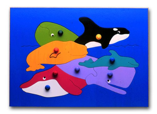 Cheap KidPuzzles Wooden Puzzle with Knobs Undersea Whales (B00564HMXI)