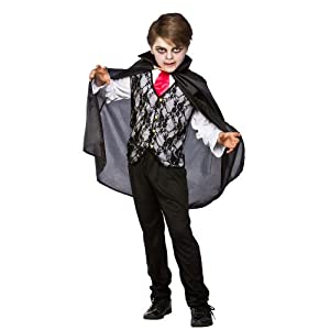 (L) Vampire Prince Of Darkness Boys Vampires Costumes Kids Dracula Halloween Trick Treat Fancy Dress Up Outfits