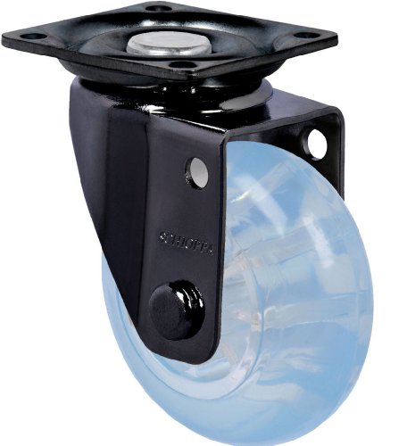 "Schioppa, Glap 210 Gel Blue-Br, 2"" (50 Mm) Swivel Non-Brake Caster, Non-Marking Polyurethane Whl, 90 Lbs, Plate 1-21/32 X 1-21/32"" (Bh 1-1/4 X 1-1/4"") front-386227"