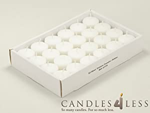 10 Hour White Unscented Votive Candles (Box of 72)
