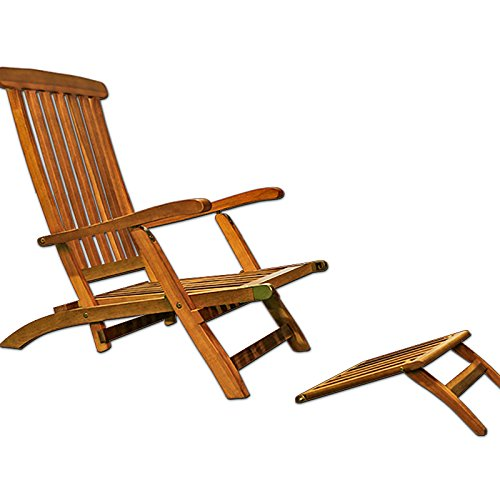 Chaise longue transat pliable de jardin en bois dacacia tropical bain de soleil