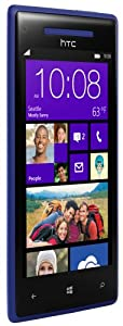 HTC 8X C620E 16GB Unlocked GSM Smartphone (Blue) with 8 MP Camera, 4.3-Inch Touchscreen, Dual-core 1.5 GHz, Wi-Fi and GPS - No Warranty by HTC