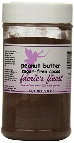 Faeries Finest Sugar-Free Cocoa, Peanut Butter, 5 Ounce