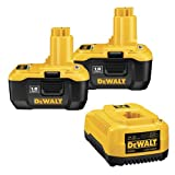 DeWalt DC9180-2-C (2) 18V NANO Lithium-Ion Batteries w/ DC9310 7.2V – 18V Ni-Cd / Ni-MH / NANO Lithium-Ion 1-Hour Battery Charger