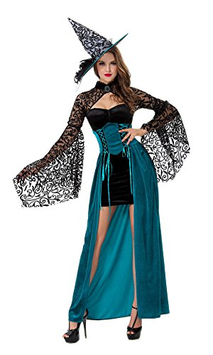 [LifeWheel Halloween Witch Dress Masquerade Costumes Pretend Play Clothing And Witch Hat] (Best Prohibition Costumes)