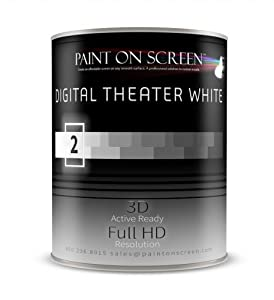 Paint On Screen Projector Screen Paint - Digital Theater White-Quart Q002