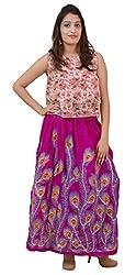 Carrol Long Skirt-Rani pink