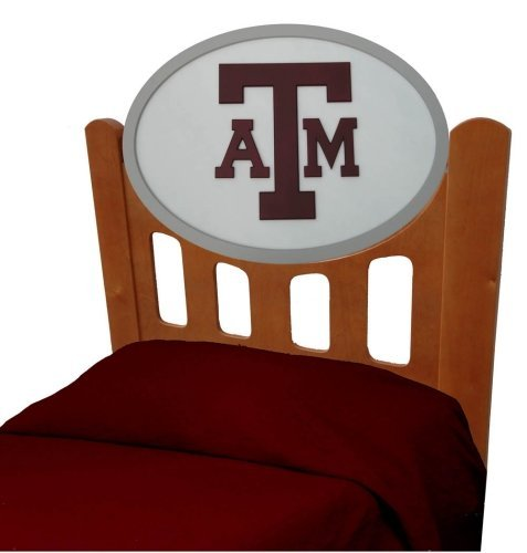 Cheap Texas A&M Aggies Kids Wooden Twin Headboard With Logo (C0526S-Texas A&M)