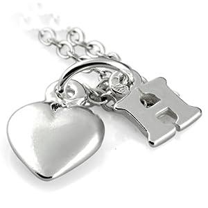 H Letter In Heart Heart  Letter H 8 2x5 7mm