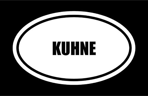 6-die-cut-white-vinyl-kuhne-name-oval-euro-style-vinyl-decal-sticker