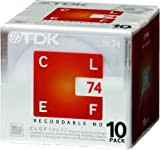TDK CLEF 74-minute Blank Mini Disc Md Recordable Minidisc 10 Pcs Pack