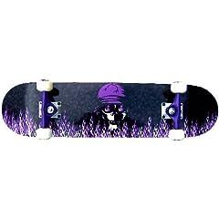 Buy PRO Skateboard Complete KROWN Purple Flame 7.5 by Krown