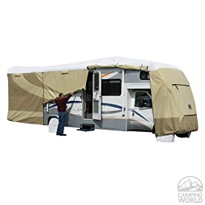 ADCO 32813 Designer Series Tan/White Tyvek Class-C RV Cover