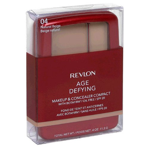 Buy Revlon Age Defying Makeup & Concealer Compact with Botafirm, SPF 20, Natural Beige 04, 0.4 oz (11.3 g) (Pack of 2)