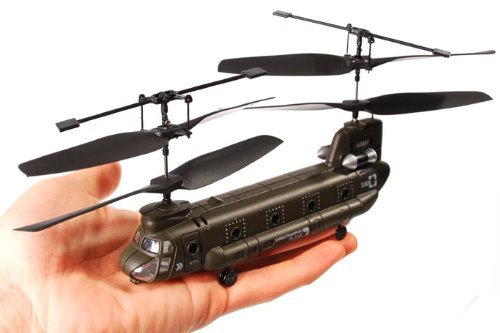 3-Ch Indoor RC Chinook Helicopter with Mini Tool Box (fs)