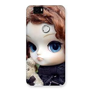 Special Hugging Teddy Doll Multicolor Back Case Cover for Google Nexus-6P