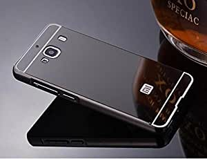 AE(TM) Luxury Metal Bumper + Acrylic Mirror Back Cover Case For Xiaomi Redmi 2 / Xiaomi Redmi 2 Prime - GREY PLATED