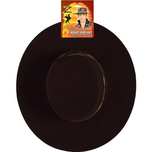 Rubie\'s Costume Co Men\'s Zorro Deluxe Hat, Black, One ...