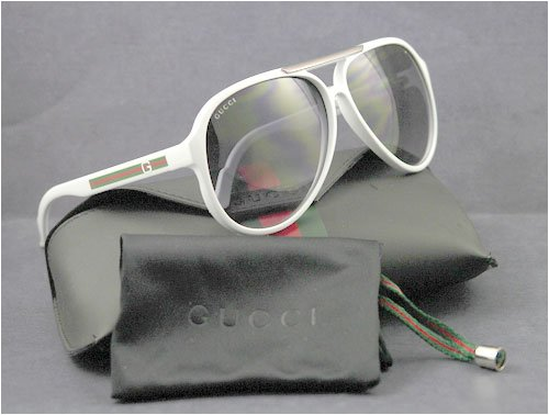 AUTHENTIC GUCCI SUNGLASSES WHITE AVIATOR GG 1627