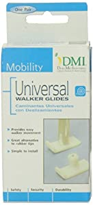 "DMI Universal Walker Ski Glides, Fits 7/8"" and 1"""