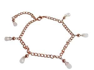 Rose Quartz teardrop Bracelet in 14k Rose Gold