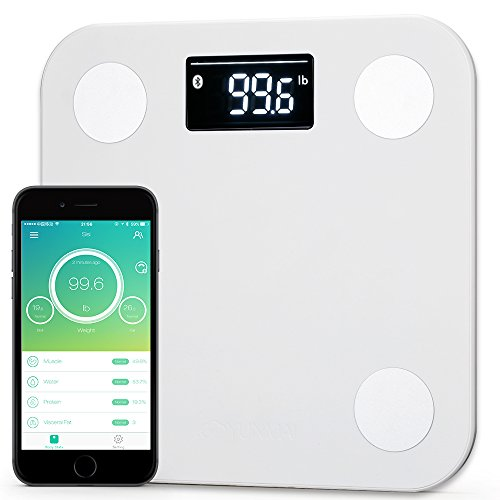 #1 Smart Scale Brand--Yunmai FDA Listed 2 Million Users Bluetooth Body Fat Scale & Body Composition Monitor with Free Fitness App and Extra Large Display