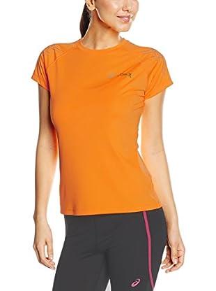 Asics Camiseta Manga Corta Stripe (Naranja)