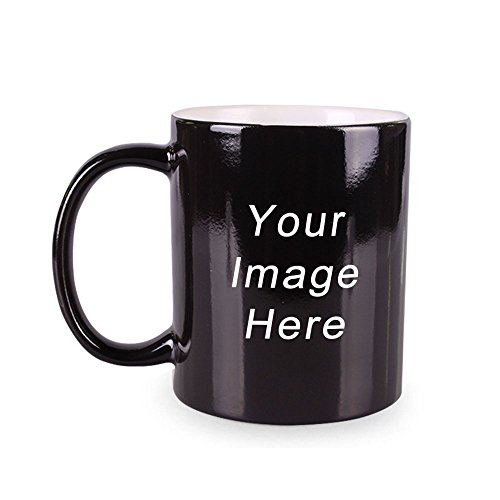 Generic Customized Color Changing Mug Diy Mug Ceramic Cup Black