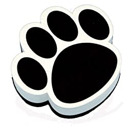 ASHLEY PRODUCTIONS Black Paw Magnetic Whiteboard Eraser