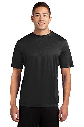 Dri tek men 39 s big tall short sleeve moisture wicking for Big and tall athletic shirts