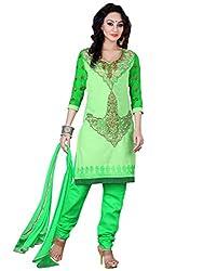 Vibes Womens Georgette Salwar Suit Set (V121-1012 _Green _Free Size)