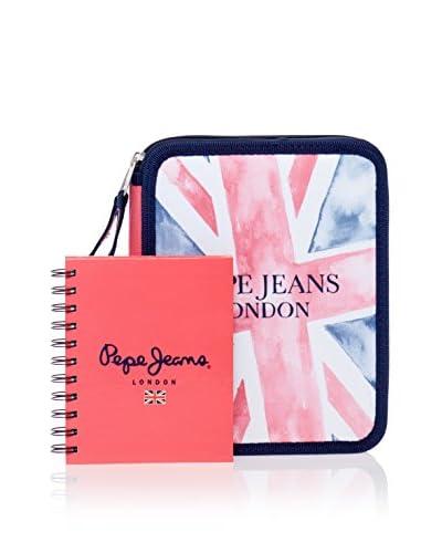 Pepe Jeans Quaderno + Astuccio  Blu Navy/Rosa