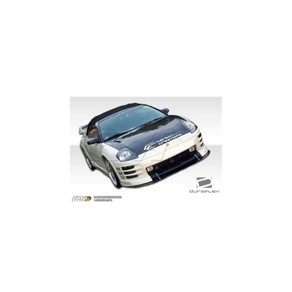 2000 2002 Mitsubishi Eclipse Duraflex Shine Flared 8 Piece Kit  Includes Shine Flared Front Lip (100124), Shine Flared Rear Lip (100125), Shine Flared Sideskirts (100126), and Shine Flared Fender Flares   4 Piece (100123).