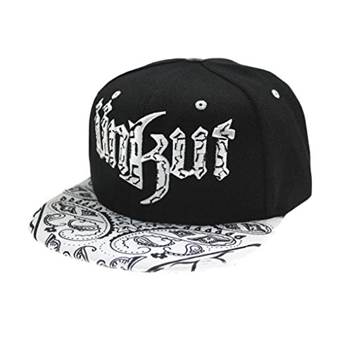 Tm Men Women Hip Hop Harajuku Embroidered Snapback Baseball Hat Adjustable Cap