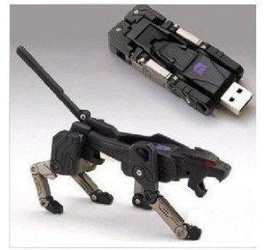 Musicstorex® 16gb USB Memory Stick Flash Pen Drive Black Leopard Transformer (Black)
