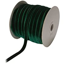 May Arts 3/8-Inch Wide Ribbon Green Velvet