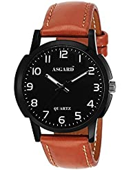 Asgard Analog Black Dial Watch For Men-BB-01