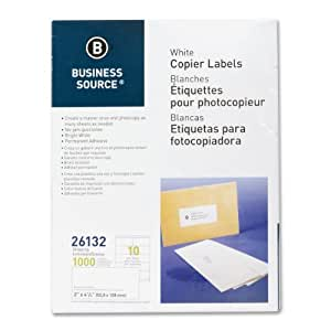 Amazoncom business source products shipping labels 2 for Business source label templates