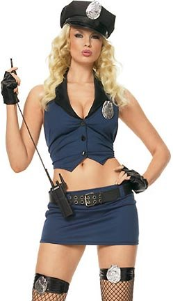 Leg Avenue Women's Kinky Cop Costume Sexy Cop Costumes For Women