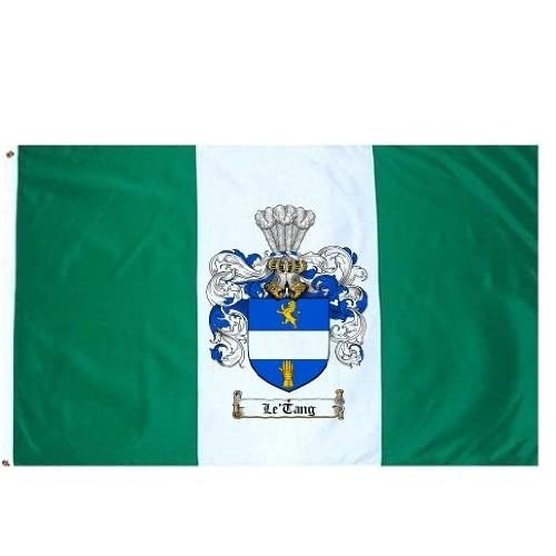Letang Family Crest / Coat of Arms Flag. Large 3 ft. x 5 ft. polyester