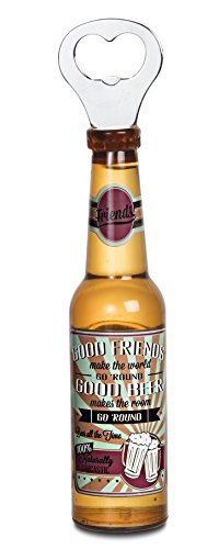 Pavilion Gift Company 22098 Friends Magnetic Bottle Opener, 8-1/4-Inch, Beer All The Time front-529812
