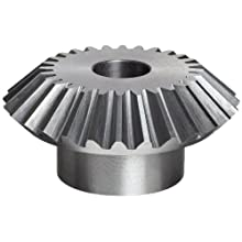Boston Gear OA Series Miter Gear, 1:1 Ratio, 20 Degree Pressure Angle, Straight Miter, Plain Bore, Cast Iron