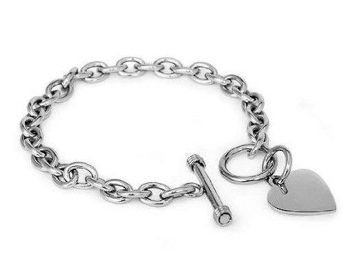 Designer Inspired Stainless Steel Heart Toggle